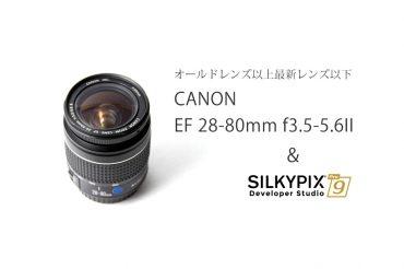 【古いAFレンズをRAW現像で仕上げる】Canon EF28-80mm F3.5-5.6 USM II