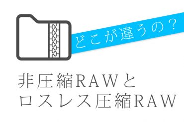 どこが違うの?非圧縮RAWとロスレス圧縮RAW