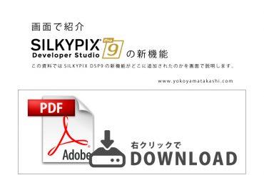 【PDFダウンロード】画面で紹介SILKYPIX Developer Studio Pro9の新機能