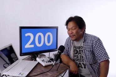 YouTubeのチャンネル登録者数が200人を超えました。ありがとうございます。